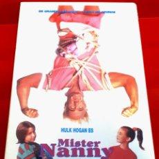 Cine: MISTER NANNY (1993) - HULK HOGAN, AFA ANOAI, ED LESLIE - 1ª EDIC. VIDEOCLUB. Lote 260434505
