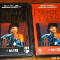 Cine: MONTECARLO - JOAN COLLINS, GEORGE HAMILTON - 1ª Y 2ª PARTE - CBS FOX - 2 VHS. Lote 260530800