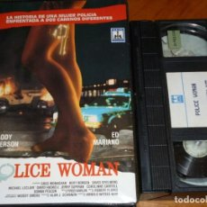 Cine: POLICE WOMAN - MELODY ANDERSON, ED MARIANO, GREG MONAGHANM, BERT REMSEN - VHS. Lote 261204705