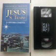Cine: JESUS Y SU TIEMPO LA HISTORIA COMIENZA READER DIGEST 1991 - CINTA VHS KREATEN. Lote 261853525