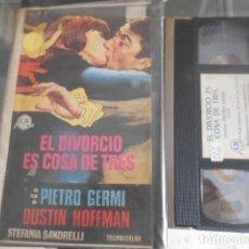 Cinema: VHS - EL DIVORCIO ES COSA DE TRES - 22. Lote 261915945