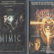 Cinema: VHS 2 X 1 - MIMIC / EL SEÑOR DE LAS ILUSIONES. Lote 261997105