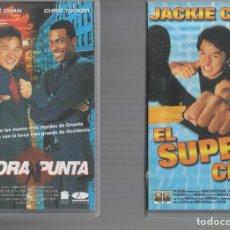 Cinema: VHS 2 X 1 - HORA PUNTA / EL SUPER CHEF. Lote 262000055