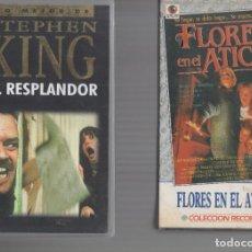 Cinema: VHS 2 X 1 - EL RESPLANDOR / FLORES EN EL ATICO. Lote 262037650