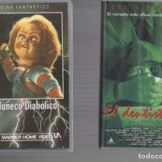 Cinema: VHS 2 X 1 - MUÑECO DIABOLICO / EL DENTISTA 2. Lote 262037870
