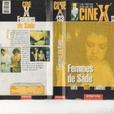 Cine: VHS - CINE X INTERVIU Nº 133 - FEMMES DE SADE - ANNETE HAVEN - AÑO DE PRODUCCION 1976. Lote 262070240
