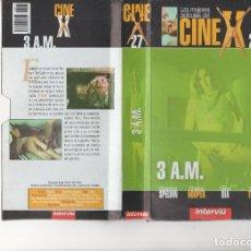 Cine: VHS - CINE X INTERVIU Nº 27 - 3 A.M.- SHARON THORPE - AÑO DE PRODUCCION 1975. Lote 262070485