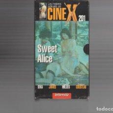 Cine: VHS - CINE X INTERVIU Nº 201 - SWEET ALICE - SEKA - AÑO PRODUCCION 1983. Lote 262071880