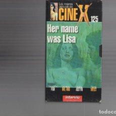 Cine: VHS - CINE X INTERVIU Nº 125 - HER NAME WAS LISA - SAMANTHA FOX, VANESSA DEL RIO - AÑO 1979. Lote 262074355