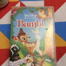 Cine: VHS. BAMBI. DISNEY CLÁSICOS. 1942.. Lote 262330835