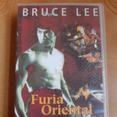Cine: FURIA ORIENTAL VHS. BRUCE LEE. HONG KONG.. Lote 262338450