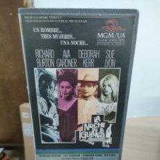 Cine: LA NOCHE DE LA IGUANA - JOHN HUSTON - RICHARD BURTON , AVA GARDNER - MGM VIDEOMAN. Lote 262895745