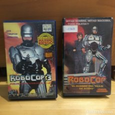 """Cine: ROBOCOP 3 Y ROBOCOP """"EL HOMBRE DEL TRAJE DE ACERO"""" VHS. Lote 262898730"""