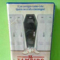 Cine: VHS - EL VAMPIRO ADOLESCENTE 1988 JIMMY HUSTON - ROBERT S LEONARD DE LA SERIE HOUSE COMEDIA- TERROR. Lote 262898895