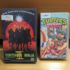 Cine: TORTUGAS NINJA 3 VHS Y TURTLES: TORTUGAS NINJA MUTANTES BEGINS VHS. Lote 262899425