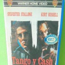 Cine: VHS - TANGO Y CASH 1989 ANDREI KONCHALOVSKY - SYLVESTER STALLONE - KURT RUSSELL - 1ª ED WARNER BROS. Lote 262900740