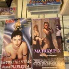 Cine: ANTIGUA PELÍCULA X VHS LOTE DE 2. Lote 262994900
