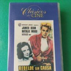 Cine: VHS-REBELDE SIN CAUSA-JAMES DEAN-NATALIE WOOD. Lote 268320939