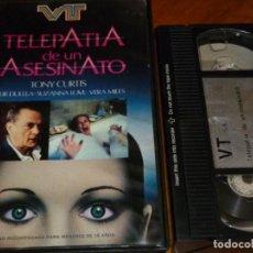 Cine: TELEPATIA DE UN ASESINATO - TONY CURTIS, SUZANNA LOVE, VERA MILLES - TERROR - VHS. Lote 268472449