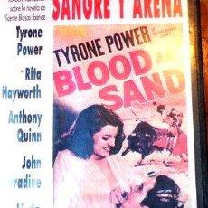 Cine: SANGRE Y ARENA TYRONE POWER RITA HAYWORTH VHS ORIGINAL. Lote 268484779