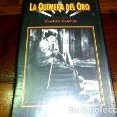 Cine: VHS LA QUIMERA DEL ORO CHARLES CHAPLIN. Lote 268502994