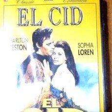 Cine: EL CID CHARLTON HESTON SOPHIA LOREN VHS ORIGINAL. Lote 268519534