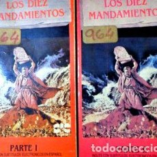 Cine: LOS DIEZ MANDAMIENTOS CHARLTON HESTON VHS ORIGINAL. Lote 268549754