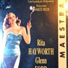 Cine: GILDA RITA HAYWORTH 6 GLENN FORD VHS ORIGINAL. Lote 268551459