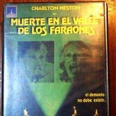 Cine: MUERTE EN EL VALLE DE LOS FARAONES CHARLTON HESTON VHS. Lote 268566839