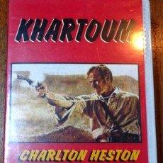 Cine: KHARTOUM CHARLTON HESTON LAURENCE OLIVIER VHS ORIGINAL. Lote 268566999