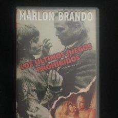 Cine: VHS - LOS ULTIMOS JUEGOS PROHIBIDOS - MARLON BRANDO - MANGA VIDEO - 1994. Lote 268605789