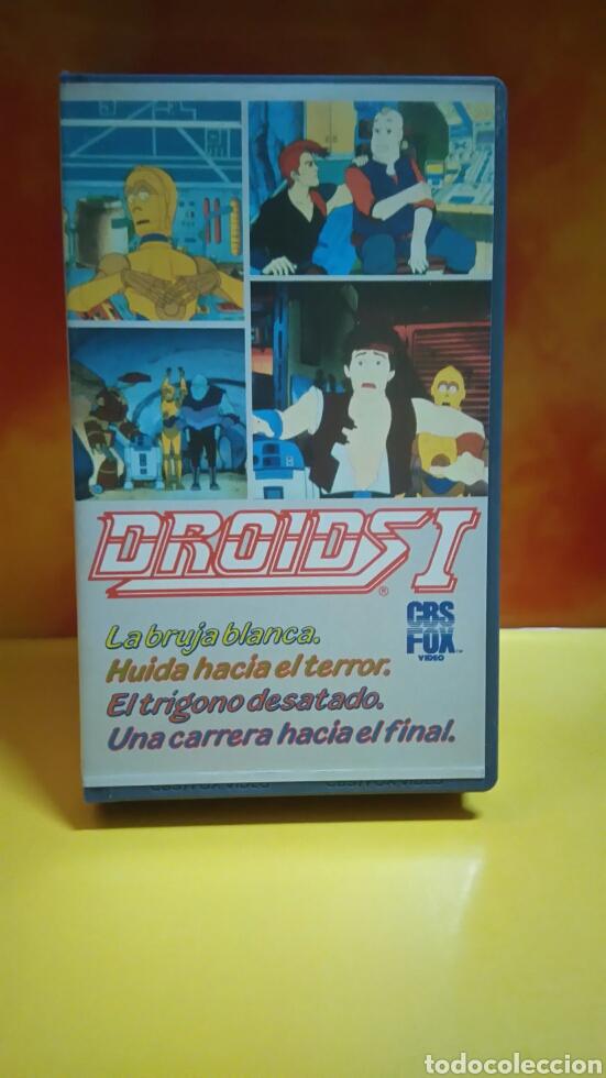 Cine: DROIDS 1, 2, 3 - Dibujos Animados - STAR WARS - 1 Edición - VHS - Foto 2 - 268618779