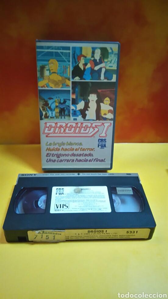 Cine: DROIDS 1, 2, 3 - Dibujos Animados - STAR WARS - 1 Edición - VHS - Foto 5 - 268618779