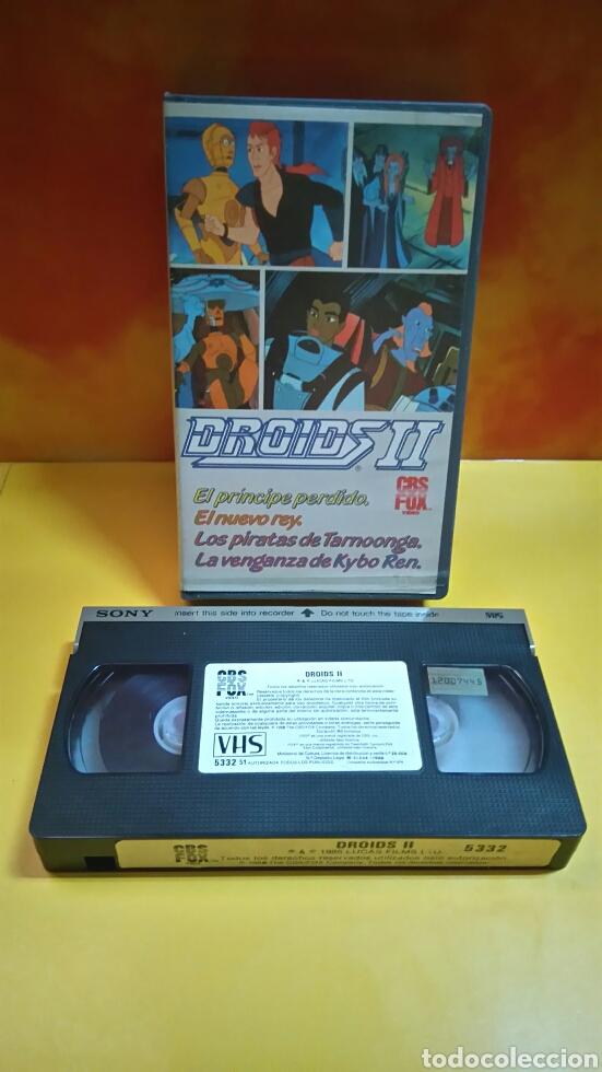 Cine: DROIDS 1, 2, 3 - Dibujos Animados - STAR WARS - 1 Edición - VHS - Foto 8 - 268618779