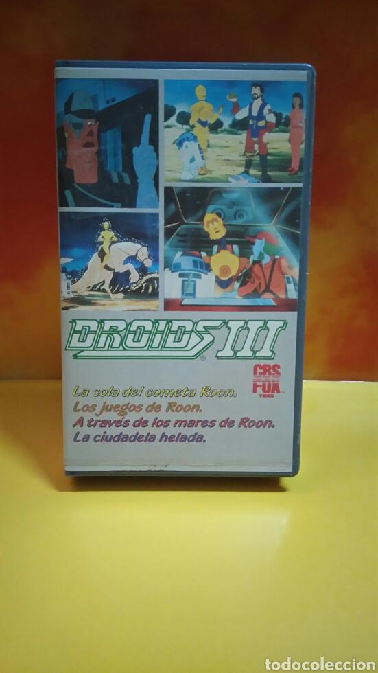 Cine: DROIDS 1, 2, 3 - Dibujos Animados - STAR WARS - 1 Edición - VHS - Foto 9 - 268618779