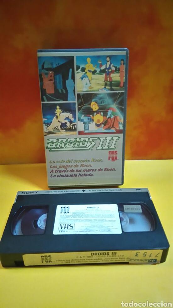 Cine: DROIDS 1, 2, 3 - Dibujos Animados - STAR WARS - 1 Edición - VHS - Foto 11 - 268618779