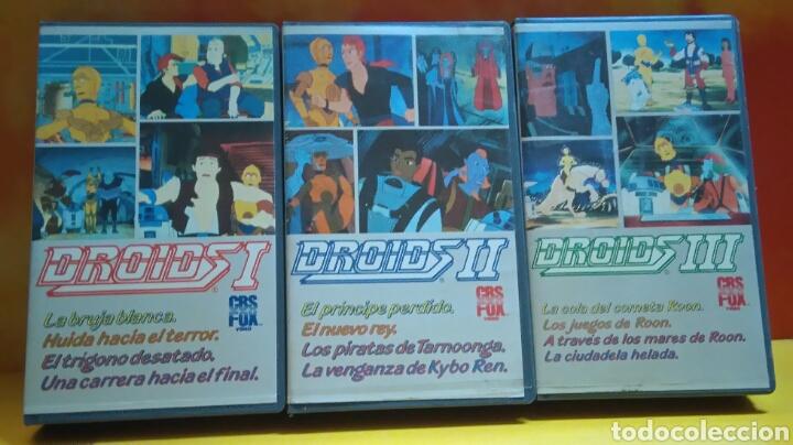 DROIDS 1, 2, 3 - DIBUJOS ANIMADOS - STAR WARS - 1 EDICIÓN - VHS (Cine - Películas - VHS)
