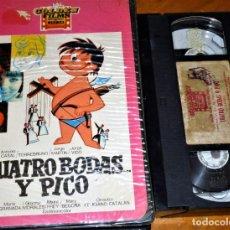 Cine: CUATRO BODAS Y PICO - ANTONIO GARISA, TORREBRUNO, SOLEDAD MIRANDA, FELICIANO CATALAN - VHS. Lote 268765824