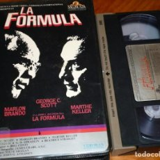 Cine: LA FORMULA - MARLON BRANDO, GREG C. SCOTT, MARTHE KELLER - MGM CAJA GRANDE - VHS. Lote 268805834