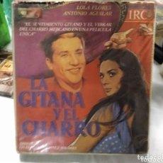 Cine: LA GITANA Y EL CHARRO • LOLA FLORES - ANTONIO AGUILAR - VHS - 1 EDICION IRC LUJO VHS. Lote 268944499