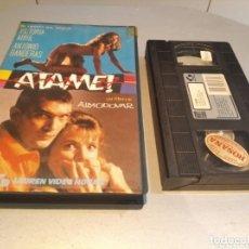 Cine: ATAME - PEDRO ALMODOVAR - ANTONIO BANDERAS , VICTORIA ABRIL - LAUREN - VHS. Lote 269109933