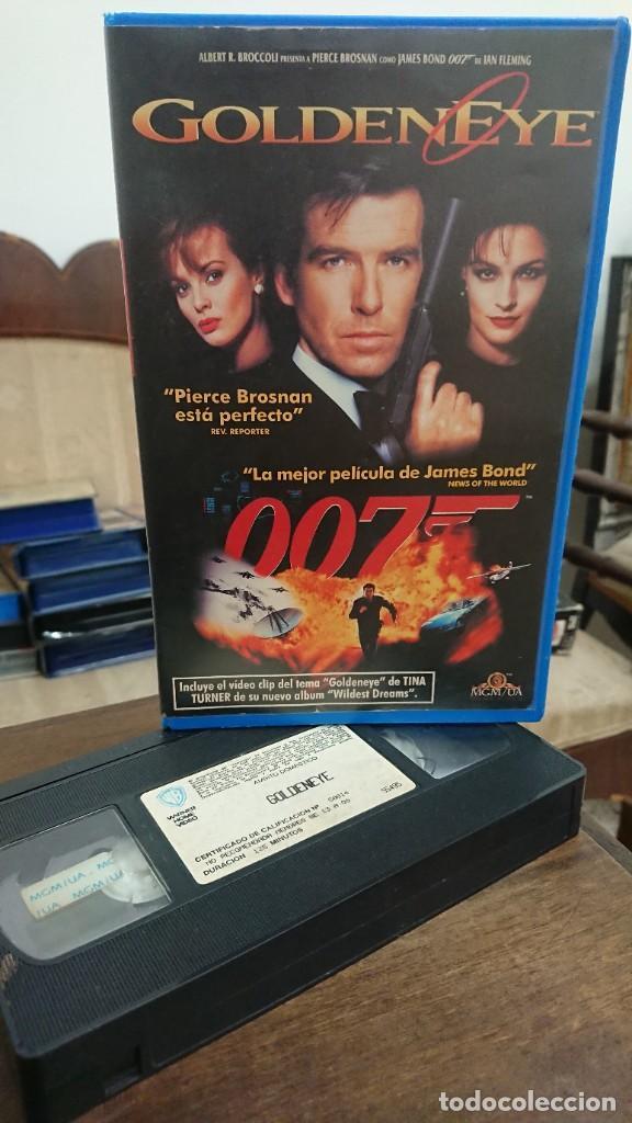 GOLDENEYE 007 - MARTIN CAMPBELL - PIERCE BROSNAN , IAN FLEMING - MGM 1995 (Cine - Películas - VHS)