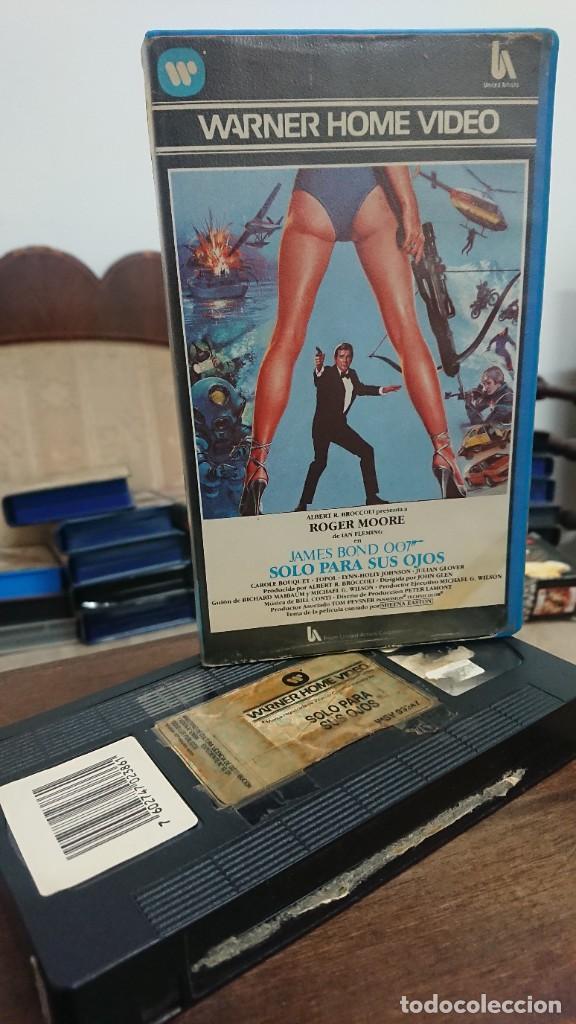 SOLO PARA SUS OJOS JAMES BOND 007 - JOHN GLEN - ROGER MOORE , CAROLE BOUQUET - WARNER 1984 (Cine - Películas - VHS)