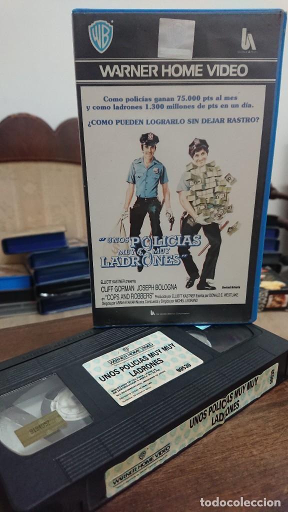 UNOS POLICIAS MUY MUY LADRONES - MICHEL LEGRAND - CLIFF GORMAN , JOSEPH BOLOGNA - WARNER 1987 (Cine - Películas - VHS)