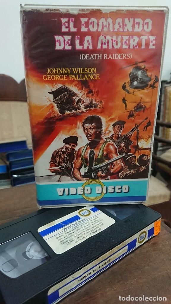 EL COMANDO DE LA MUERTE (DEATH RAIDERS) - SEGUNDO RAMOS - JOHNNY WILSON , GEORGE PALLANCE - DISCO (Cine - Películas - VHS)