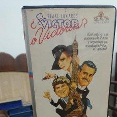 Cine: VICTOR O VICTORIA - BLAKE EDWAR´S - JULIE ANDREWS , JAMES GARNER - VIDEOMAN INTERNACIONAL 1982. Lote 269260493