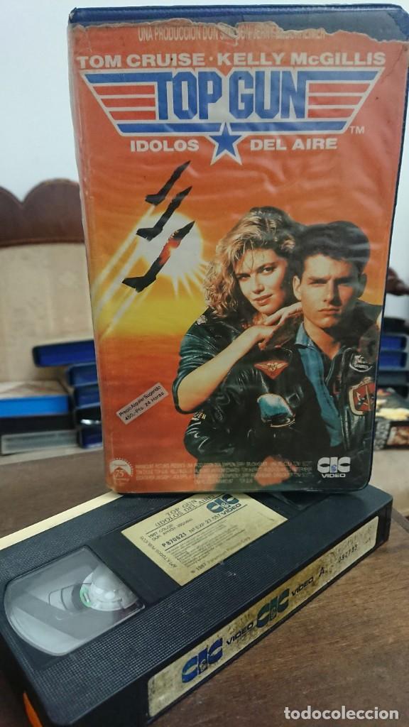 TOP GUN IDOLOS DEL AIRE - TONY SCOTT - TOM CRUISE , KELLY MCGILLIS - CIC 1987 (Cine - Películas - VHS)