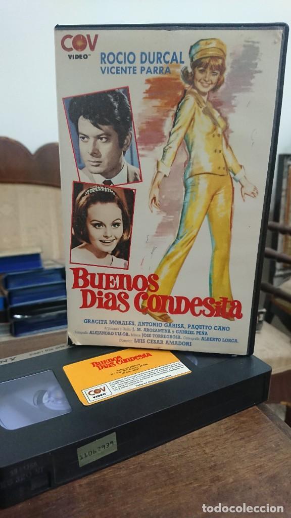 BUENOS DIAS CONDESITA - LUIS CESAR AMADORI - ROCIO DURCAL , VICENTE PARRA - COC VIDEO 1988 (Cine - Películas - VHS)