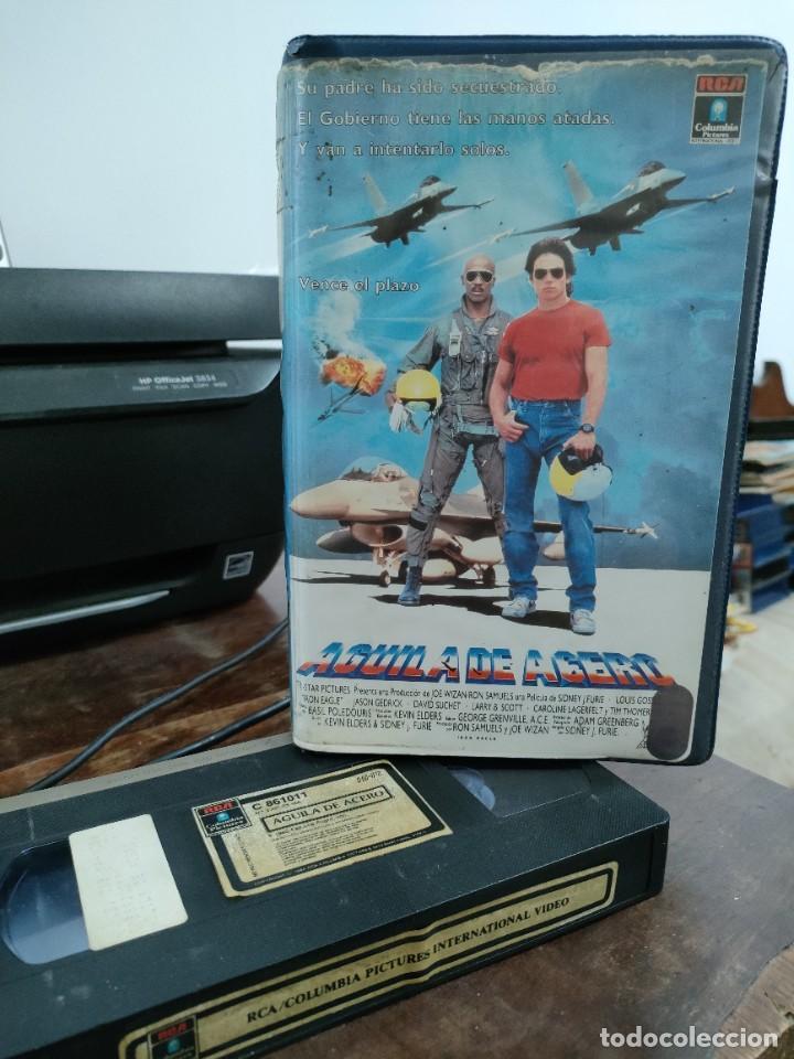 AGUILA DE ACERO IRON EAGLE - SIDNEY J. FURIE - LOUIS GOSS , JASON GEDRICK - RCA 1985 (Cine - Películas - VHS)