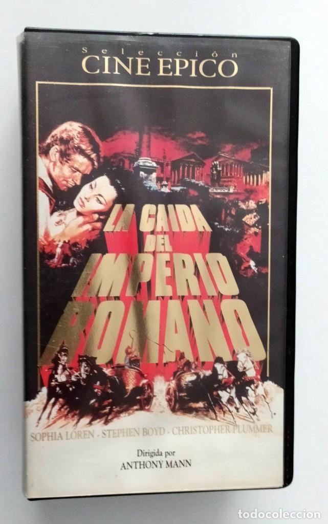 DOBLE VHS EDICIÓN ESPECIAL LA CAÍDA DEL IMPERIO ROMANO - SOPHIA LOREN (Cine - Películas - VHS)